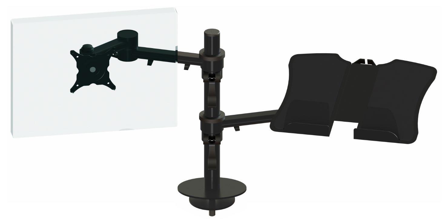 Ergo Ltd Dual Beam Manual Height Adjustment With Laptop