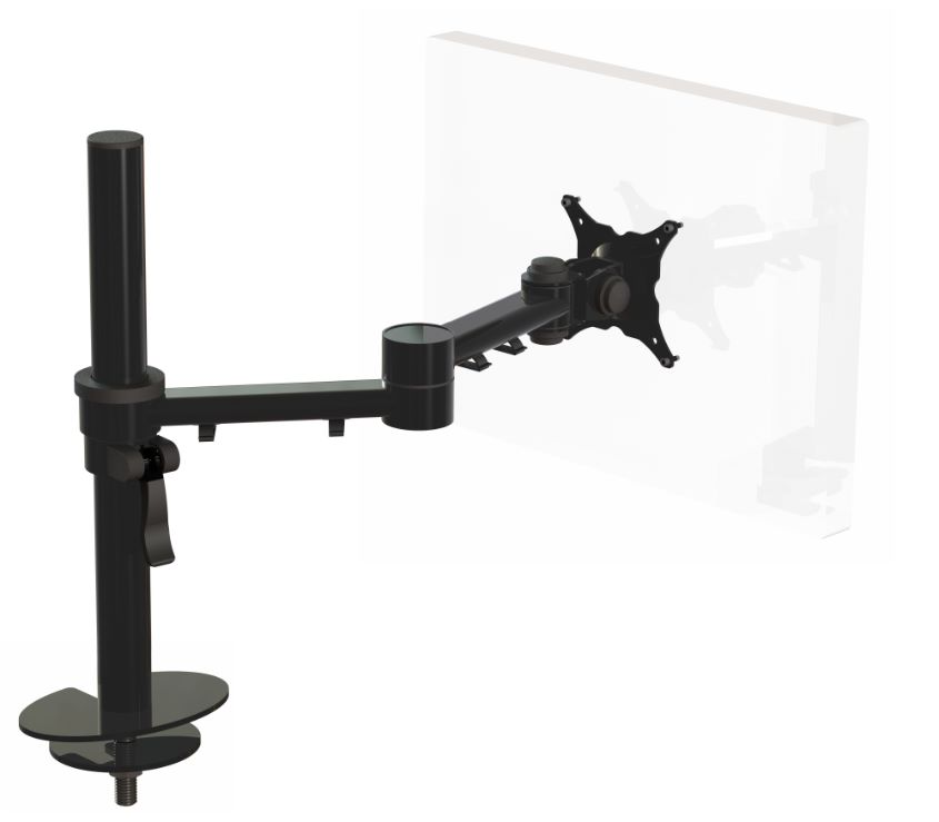Ergo Ltd Universal Through Desk Fixing With Dual Beam