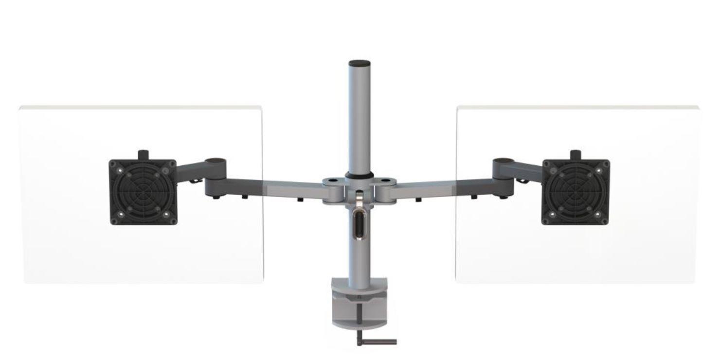 Ergo Ltd X Stream Dual Beam Post Mounted Monitor Arm