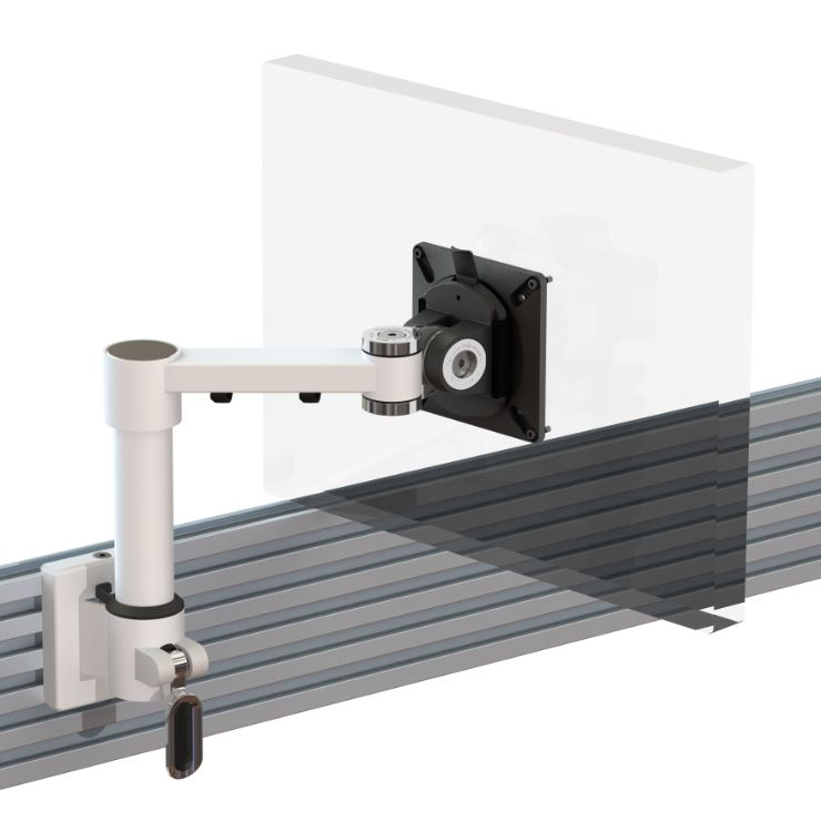 Ergo Ltd Single Beam Arm With Manual Height Adjustment