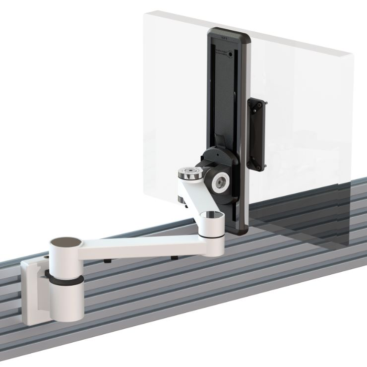 Ergo Ltd Dual Beam Monitor Arm With Ratchet Height