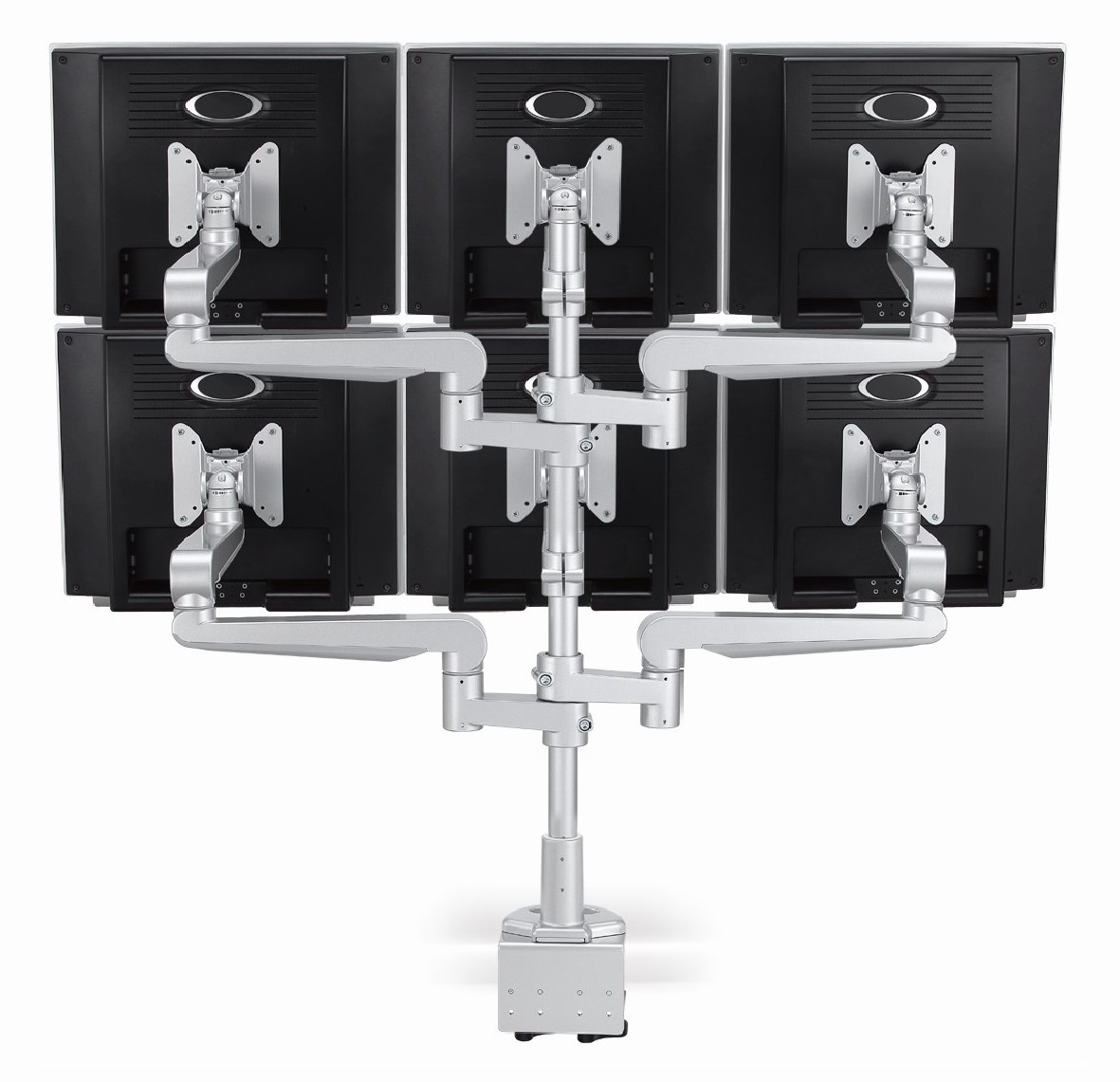 Ergo Ltd Six Screen With Desk Clamp