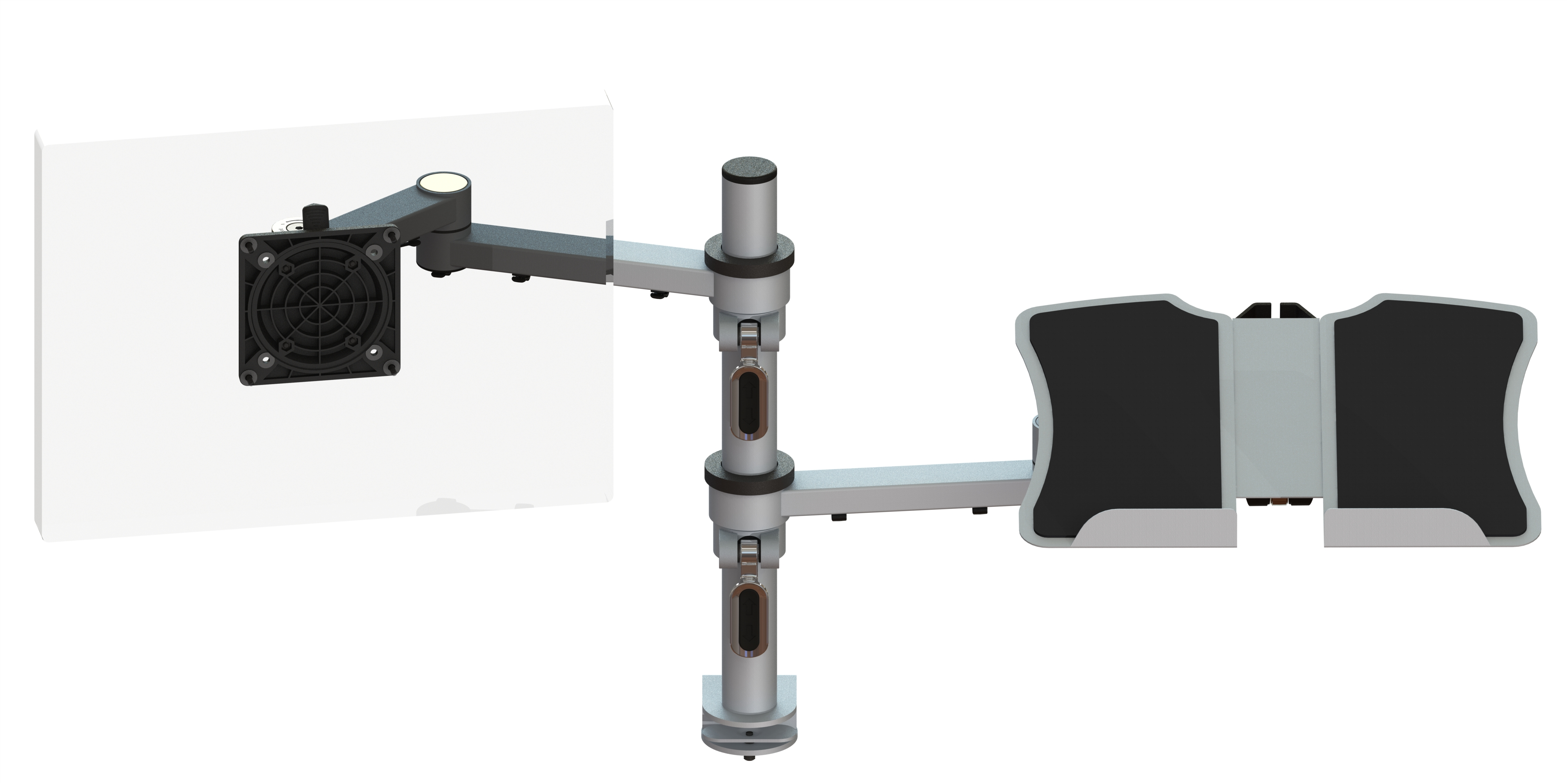 Ergo Ltd X Stream Dual Beam Post Mounted Monitor Arms